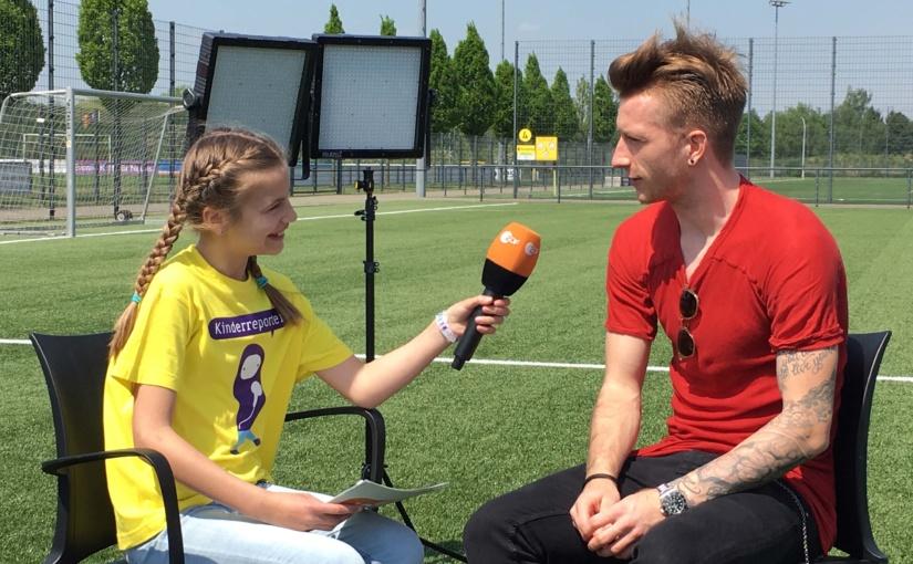 "ZDF-""logo!""-Kinderreporterin trifft Marco Reus – Fußball-EM in den ZDF-Kindernachrichten"