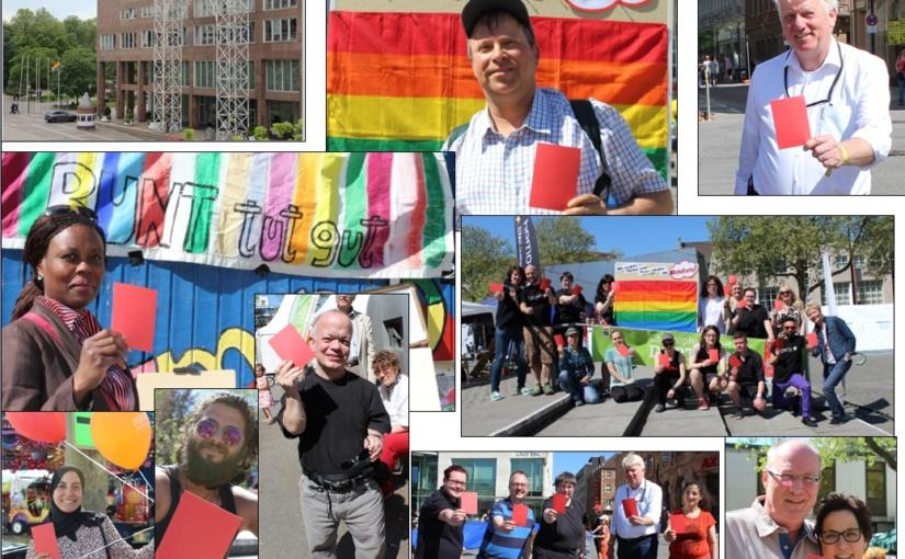 """Internationaler Anti-Homo- und Trans*phobie Tag  """"Wir zeigen Homo- und Trans*phobie die #RoteKarte!"""""""