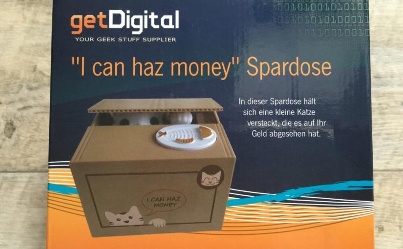 """Produkttest – Katzenspardose """"I can haz money"""" von getDigital"""