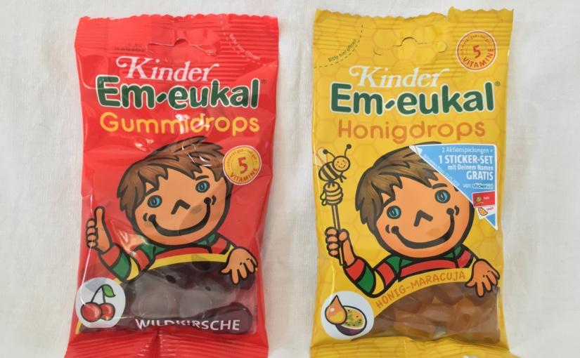 Produkttest – Kinder Em-eukal Gummidrops in den Geschmacksrichtungen Wildkirsche und Honig-Maracuja