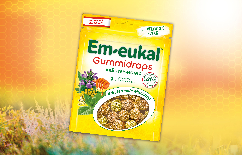 Die Em-eukal® Gummidrops Kräuter-Honig Mischung im Test