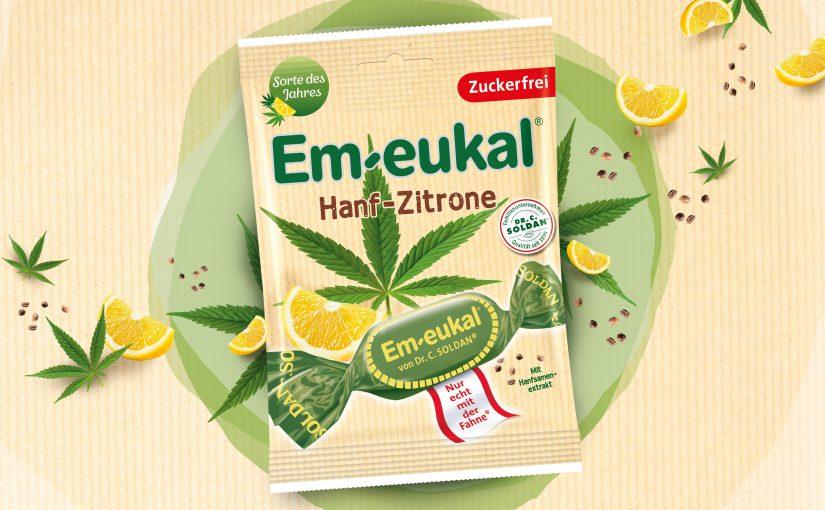Das Trendprodukt Hanf im Bonbongewand – Die neue Sorte des Jahres Em-eukal® Hanf-Zitrone bei uns im Test